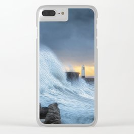 Hurricane Brian with oil painting effect Clear iPhone Case