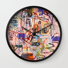 Shamanic Painting 02 Wall Clock