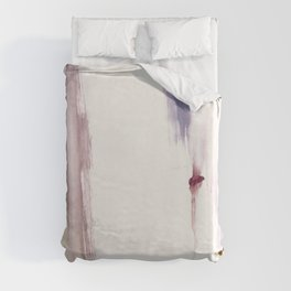 Sugar and Spice [2]: a minimal, pretty abstract piece in pinks, purple, mauve, and tan Duvet Cover