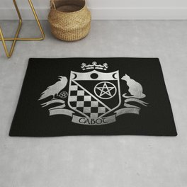 Cabot Crest Simulated Silver Rug