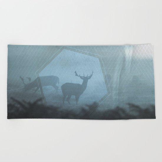Mystic Deer Beach Towel