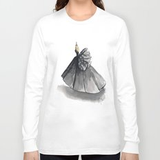 Polka Dot Watercolor Fashion Gown Long Sleeve T-shirt