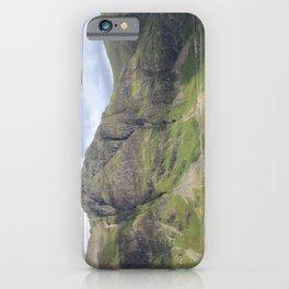 Glencoe Pass Panorama in summer, Scotland iPhone Case