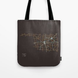 Oklahoma Highways Tote Bag