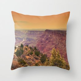Grand Canyon before sunset. Throw Pillow