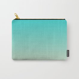 Dark Turquoise Tropical Paradise Island Tahitian Beach Carry-All Pouch