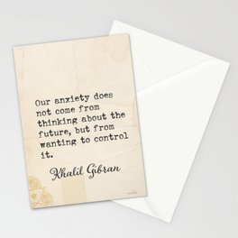 Khalil G. Lebanese writer quote 5 Stationery Cards