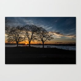 Dusk at The Willows Canvas Print