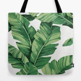 Tropical banana leaves Tote Bag