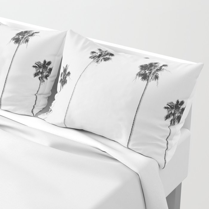 Black & White Palms Pillow Sham