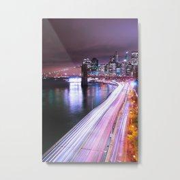 City Lights Highway Metal Print
