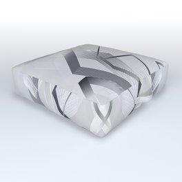 - Gray luxury - Modern geometric abstract Outdoor Floor Cushion