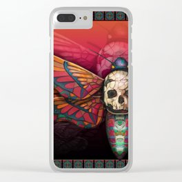 """""""Death colored moth"""" Clear iPhone Case"""