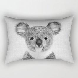 Baby Koala - Black & White Rectangular Pillow