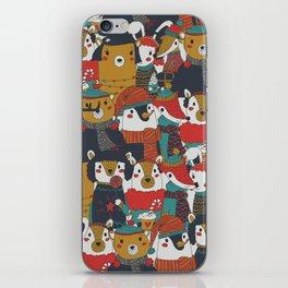 Funky Retro Christmas Animals iPhone Skin