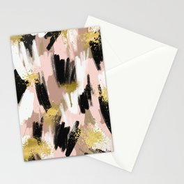 Blush and Gold Abstract Stationery Cards