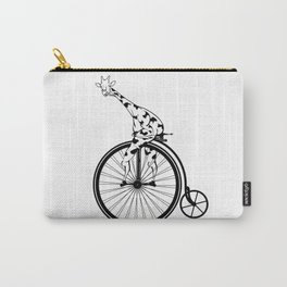 Giraffe Riding A Penny-Farthing Bicycle Carry-All Pouch