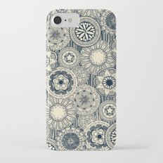mandala cirque indigo cream iPhone 7 Slim Case
