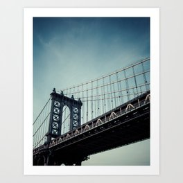 Moody Manhattan Art Print