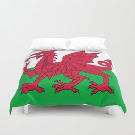 Flag of Wales,uk,great britain,dragon,cymru, welsh,celtic,cymry,cardiff,new port Duvet Cover