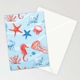 Poster Background | Seahorse Stationery Cards