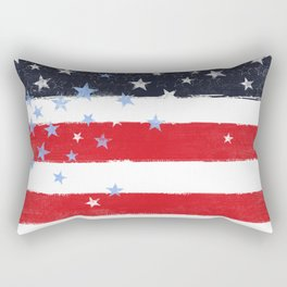 Patriotic Grunge Stars and Stripes Rectangular Pillow