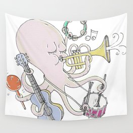 Music Octopi  Wall Tapestry