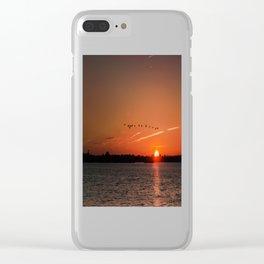Flight Over the Sun Clear iPhone Case