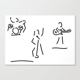 singer bound rock pop Canvas Print