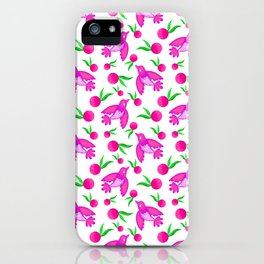 Little pretty swallows birds with spread wings and sunny bright lovely oranges pattern iPhone Case