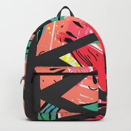 Black Watermelon Pattern Backpack