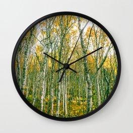 Silver Birches Wall Clock