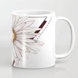 White Flower Text Coffee Mug