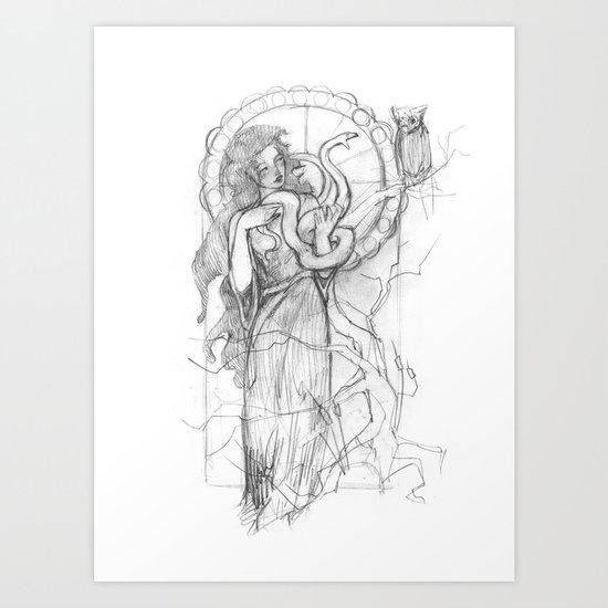 athena doesn't like gorgons Art Print