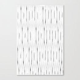 Minimalist vintage stripes pattern Canvas Print