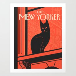 The Mew Yorker: Boo Lives There? Art Print