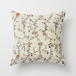 Floral Piece late 18th century Chinese for French market Throw Pillow