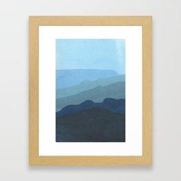 Landscape Blue Framed Art Print