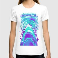 jaws T-shirts featuring Jaws by Retkikosmos