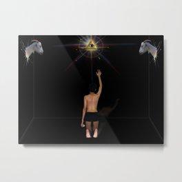 La Iluminación Metal Print
