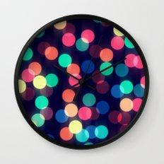 Round bokeh Wall Clock