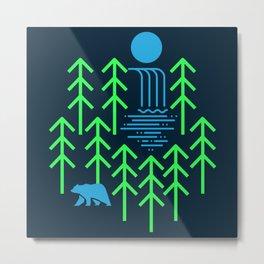 Nature Falls - animal t shirt, animal print t shirt, wildlife t shirt, bear shirt Metal Print