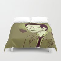 castiel Duvet Covers featuring Castiel by The Art of Nicole
