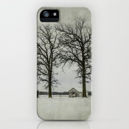 I try to pretend that I'm not alone. iPhone Case