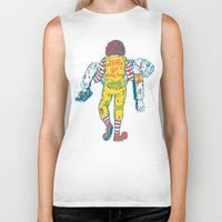 junk food Biker Tanks featuring Death Of Junk Food by ERROR Design