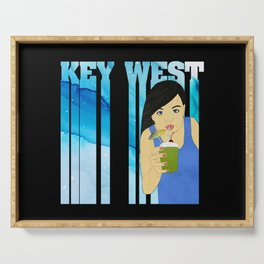 Drink Up in Key West Serving Tray