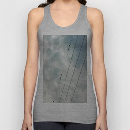 Birds On a Wire Unisex Tank Top