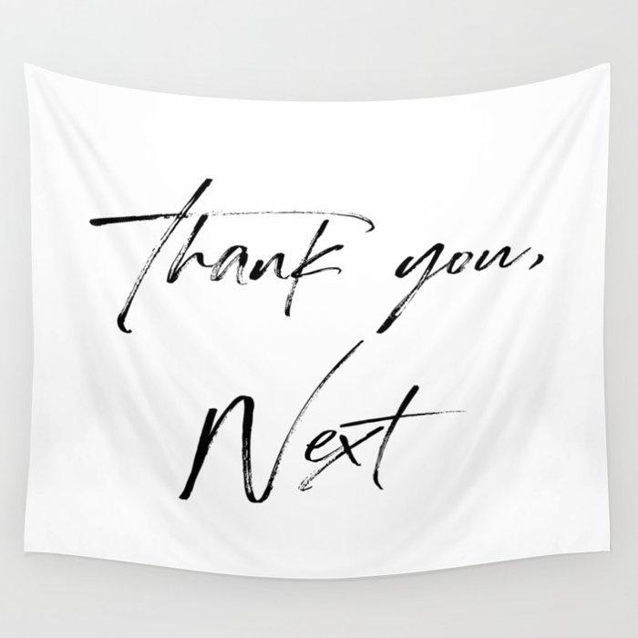 Ariana G. Quote, Thank U, Next, Lyrics, Home Decor, Wall Art, Wall Decor Wall Tapestry