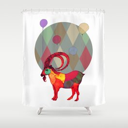 peaceful and happy Shower Curtain