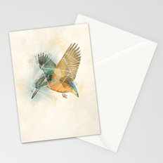 Geo Kingfisher Stationery Cards